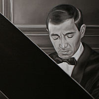 """Le Pianiste"" oil on linen 48""x113"""