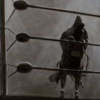 """Boxer"" oil on linen 32""x48"" - sold"