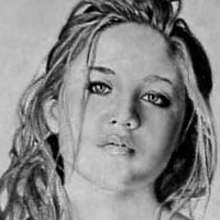 "Erika Christensen - graphite and charcoal on paper 11""x14"""