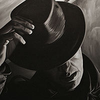 """Coup de Chapeau"" oil on linen 65""x108"" - sold"